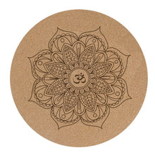 Load image into Gallery viewer, Round Cork Meditation Mat - Meraki Cole Company