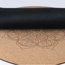 Load image into Gallery viewer, Round Cork Meditation Mat - Bottom View - Meraki Cole Company