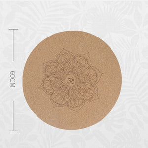 Round Cork Meditation Mat - Measurement - Meraki Cole Company