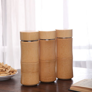 Bamboo Stainless Steel Thermal Flask  350 ml - Meraki Cole Company