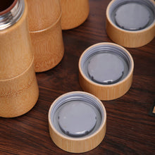 Load image into Gallery viewer, Bamboo Stainless Steel Thermal Flask