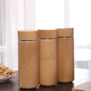 Bamboo Stainless Steel Thermal Flask  350 ml Original - Meraki Cole Company