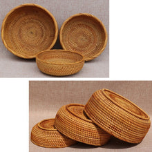Load image into Gallery viewer, Natural Rattan Storage Bowls (3 Piece Set) - Meraki Cole Company