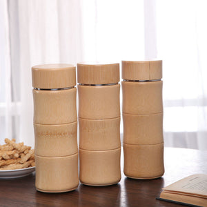 Bamboo Stainless Steel Thermal Flask  400 ml - Meraki Cole Company