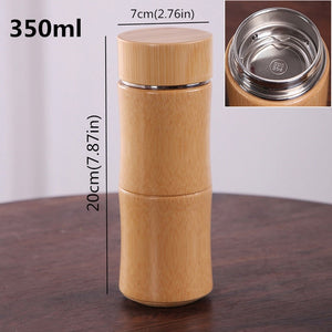 Bamboo Stainless Steel Thermal Flask