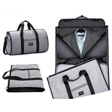 Load image into Gallery viewer, Foldable 2 in 1 Duffel Garment Bag -  Color Gray - Meraki Cole Company