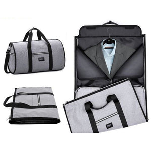 Foldable 2 in 1 Duffel Garment Bag -  Color Gray - Meraki Cole Company