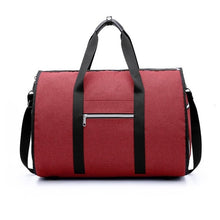 Load image into Gallery viewer, 2 in 1 Duffel Garment Bag - Color Red - Meraki Cole Company