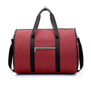 2 in 1 Duffel Garment Bag - Color Red - Meraki Cole Company