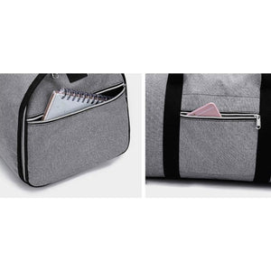 2 in 1 Duffel Garment Bag - Side Pockets Views - Meraki Cole Company