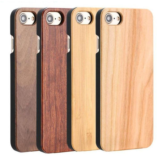 Natural Wood Mobile Hard Case for iPhone 12, 11, Pro MAX, X, 8, 7, 6, 5, S, Plus and Galaxy S8, S9 Plus - Meraki Cole Company