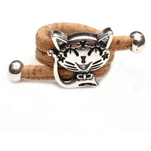 Load image into Gallery viewer, Natural Cork Ring with Cat - Meraki Cole Company