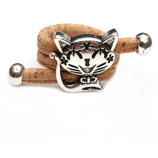 Natural Cork Ring with Cat - Meraki Cole Company