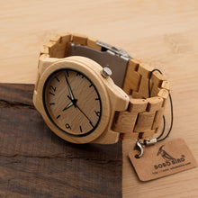 Load image into Gallery viewer, Mens Bamboo Wooden Watch - Meraki Cole Company