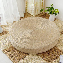 Load image into Gallery viewer, Natural Straw Meditation Yoga Cushion