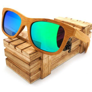 100% Natural Bamboo Wooden Sunglasses - Meraki Cole Company