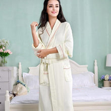 Load image into Gallery viewer, Waffle Bamboo Fiber Bathrobe - Meraki Cole Company