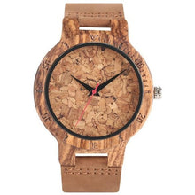 Load image into Gallery viewer, Zebra Carved Wooden Watch - Meraki Cole Company