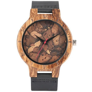 Zebra Carved Wooden Watch - Meraki Cole Company