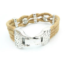 Load image into Gallery viewer, Womans Braided Cork Bracelet - Meraki Cole Company