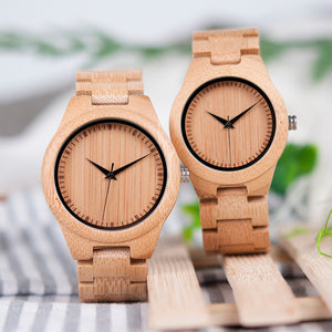 Mens & Womens Bamboo Lovers Wristwatches - Meraki Cole Company