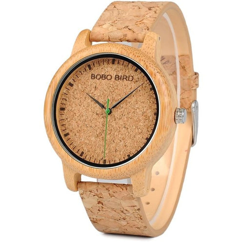 Natural Cork Watch Bamboo Wooden Men Ladies Timepiece - Meraki Cole Company