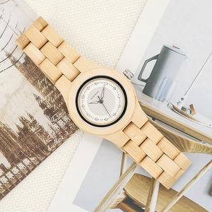Ladies Luxury Bamboo Wooden Watch - Meraki Cole Company