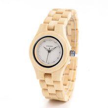 Load image into Gallery viewer, Ladies Luxury Bamboo Wooden Watch - Meraki Cole Company