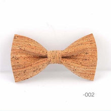 Load image into Gallery viewer, Cork Wood Bow Tie - Meraki Cole Company