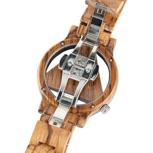 Casual Bamboo Quartz Wrist Watch - Meraki Cole Company