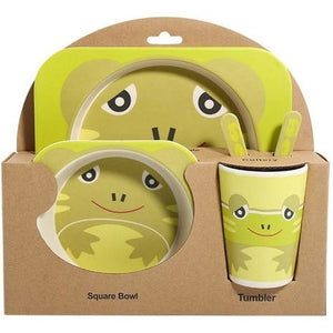 Baby Natural Bamboo Dinnerware (5 Piece Set) - Meraki Cole Company
