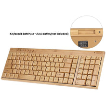Load image into Gallery viewer, Handcrafted Natural Bamboo Keyboard - Meraki Cole Company