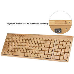 Handcrafted Natural Bamboo Keyboard - Meraki Cole Company