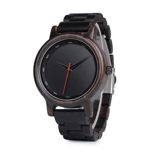 Bamboo Dark Wooden Watch for Men - Meraki Cole Company