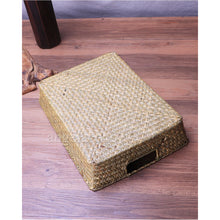 Load image into Gallery viewer, Portable Straw Woven Storage Basket - Meraki Cole Company