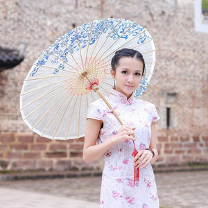 Chinese Style Oiled Paper Umbrella - Meraki Cole Company