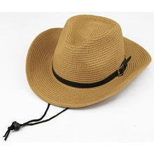 Load image into Gallery viewer, Foldable Straw Cowboy Hat - Meraki Cole Company