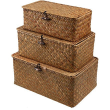 Load image into Gallery viewer, Natural Handmade Rattan Storage Boxes - Meraki Cole Company