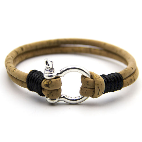 Natural Cork Horseshoe Bracelet - Meraki Cole Company