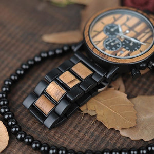 Mens Wooden Watch in Black - Meraki Cole Company