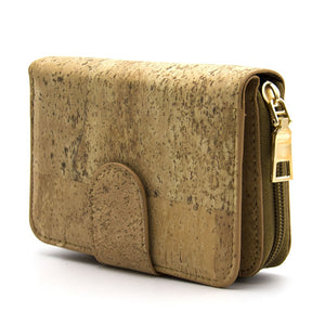 Natural Cork Bifold Wallet for Women - Meraki Cole Company