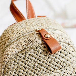 Mini Straw Weave Backpack - Meraki Cole Company
