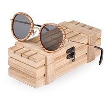 Load image into Gallery viewer, Zebra Wooden Bamboo Sunglasses - Meraki Cole Company