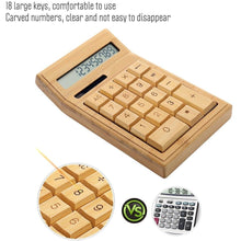 Load image into Gallery viewer, Eco-Friendly Bamboo 12 Digit Electronic Calculator - Meraki Cole Company
