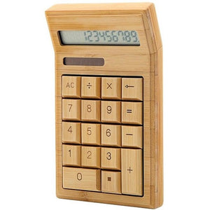 Eco-Friendly Bamboo 12 Digit Electronic Calculator - Meraki Cole Company