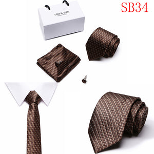 Silk Necktie Gift Box Set (4 Pieces) - Meraki Cole Company