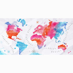 World Map Bamboo Bath or Beach Towel - Meraki Cole Company