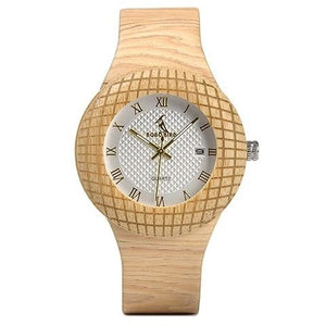 Stylish Wooden Watch with Roman Numerals - Meraki Cole Company