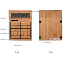 Load image into Gallery viewer, Solar Powered Electric Bamboo Calculator - Meraki Cole Company