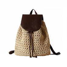 Load image into Gallery viewer, Female Fashion Straw Backpack - Meraki Cole Company
